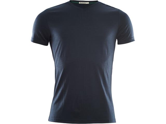Aclima LightWool V-kauluksinen T-paita Miehet, navy blazer